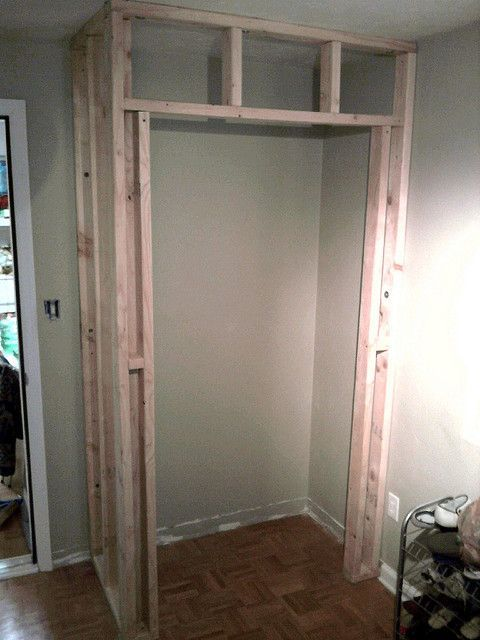 Perfect How Build A Closet Where There Once Wasnu0027t One. ~Framing Is Finished