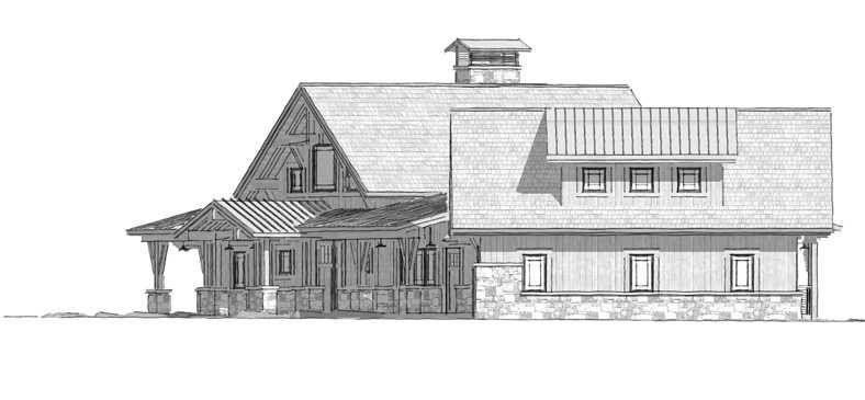 Bragg Creek Timber Frame Home Floor Plan by Canadian Timberframes Ltd
