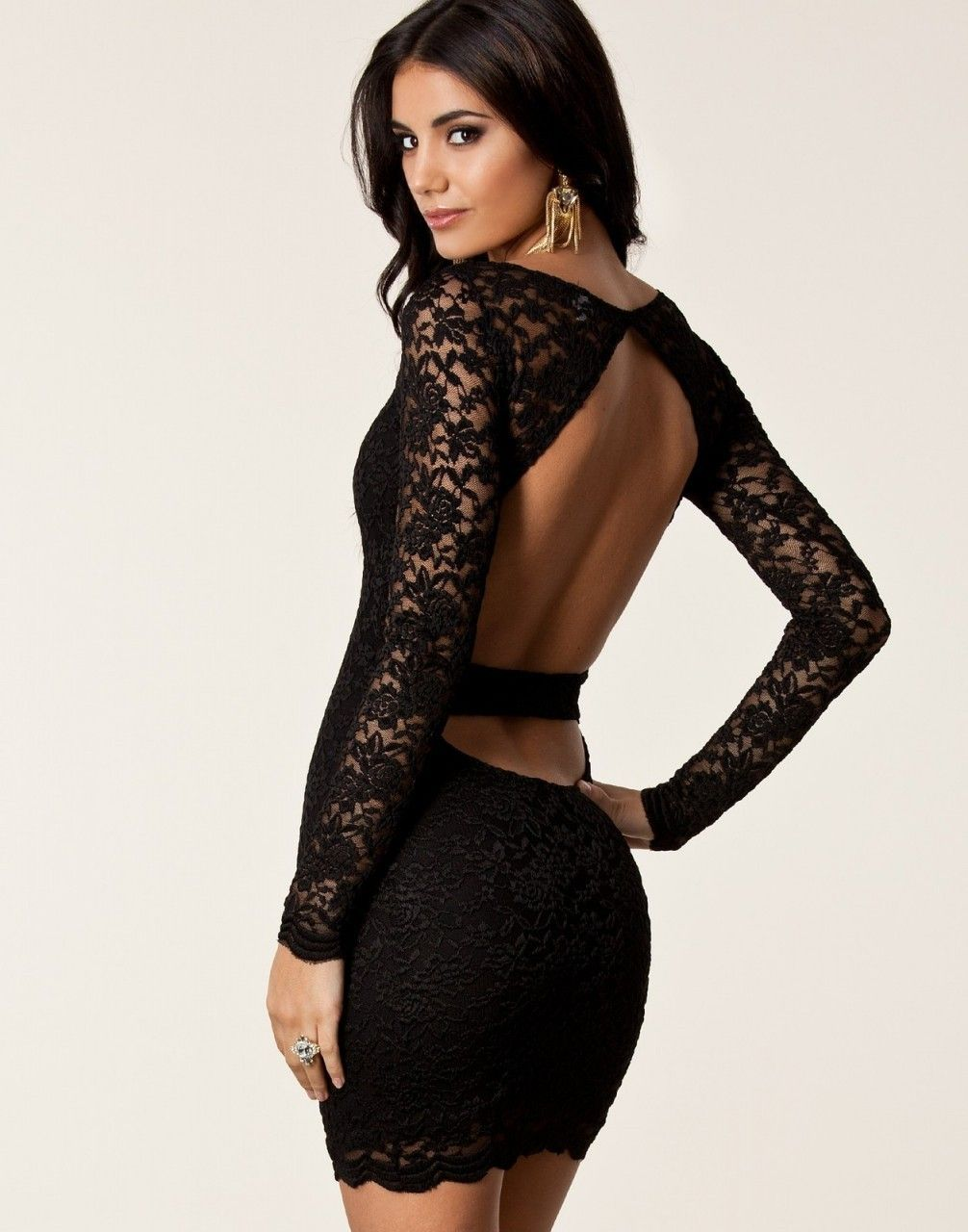 Shop Kami Shade  - Sexy Laced Open Back Cocktail Dress Black 8cc2b60af88