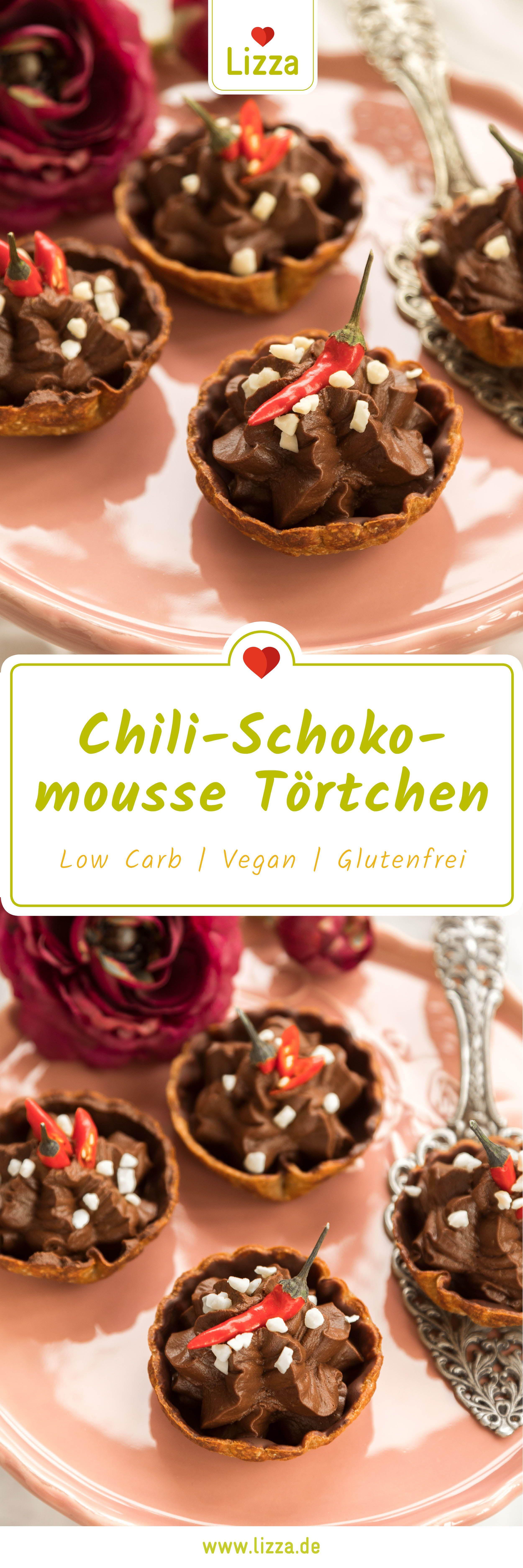 Low Carb Chili Schokomousse Törtchen Rezept