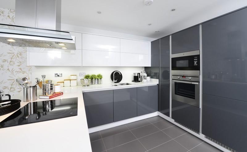 Best Photo Of Grey White Linden Homes Kitchen Kitchen 400 x 300