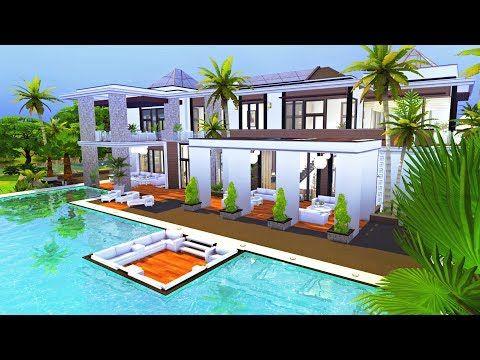 MODERN VILLA SIMS 4 BASE GAME Sims 4 Speed Build