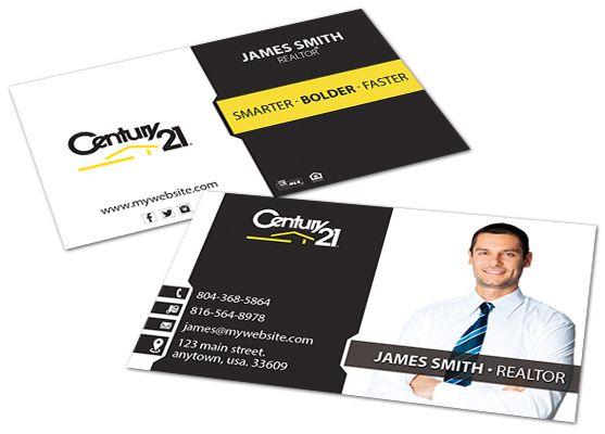 Century 21 Affiliate Business Card Template Free Business Cards Free Business Card Templates Professional Business Card Design
