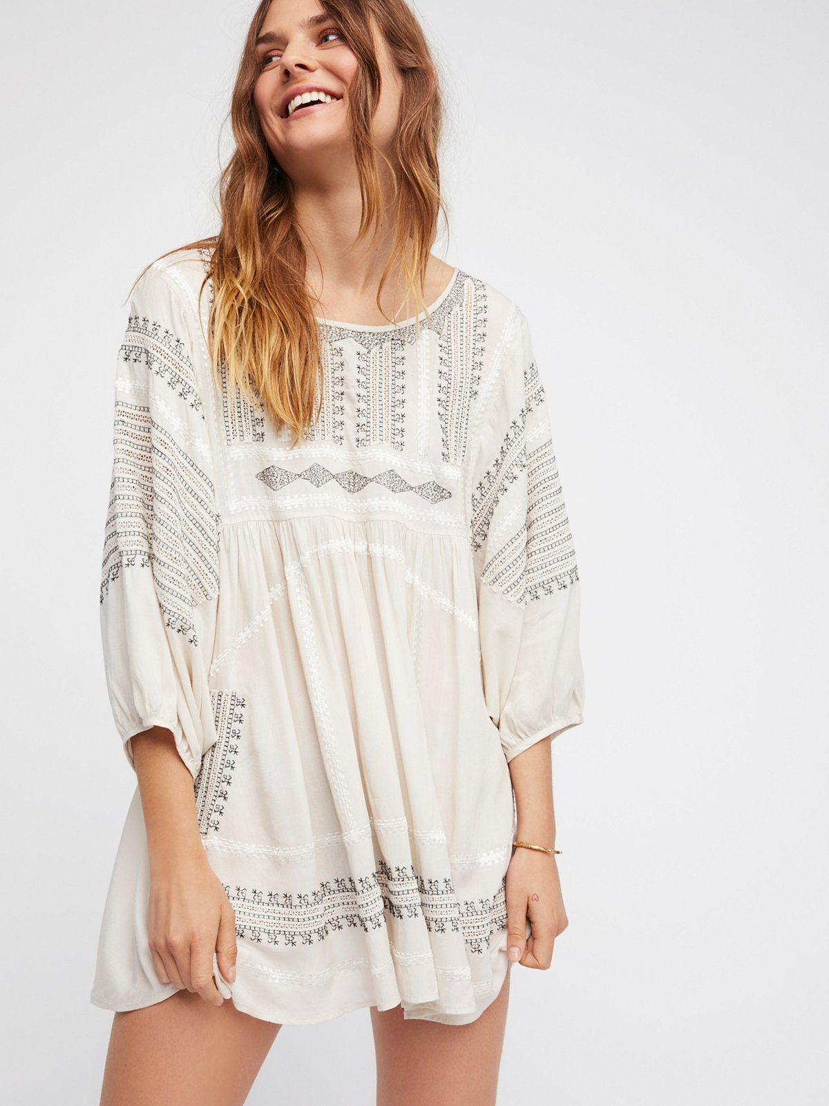 a8725574792 Wild One Embroidered Top | Lightweight and semi-sheer top featuring allover  contrast and tonal embroidery detailing. * Oversized fit * Wide dolman  style ...