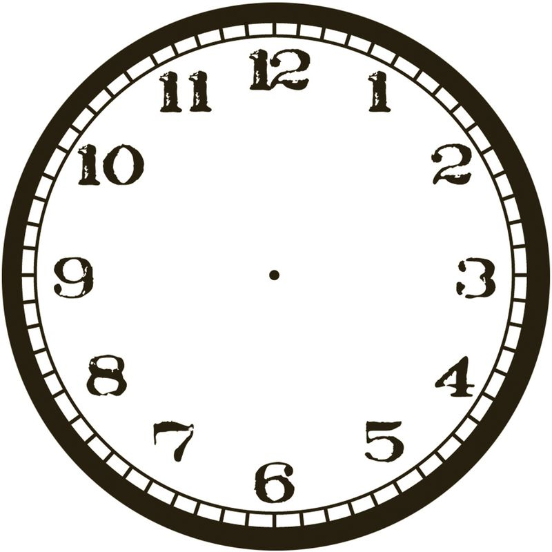 General Search Clockface Cardstock 11 5 Stamped Clock White Clock Stamp Black And White