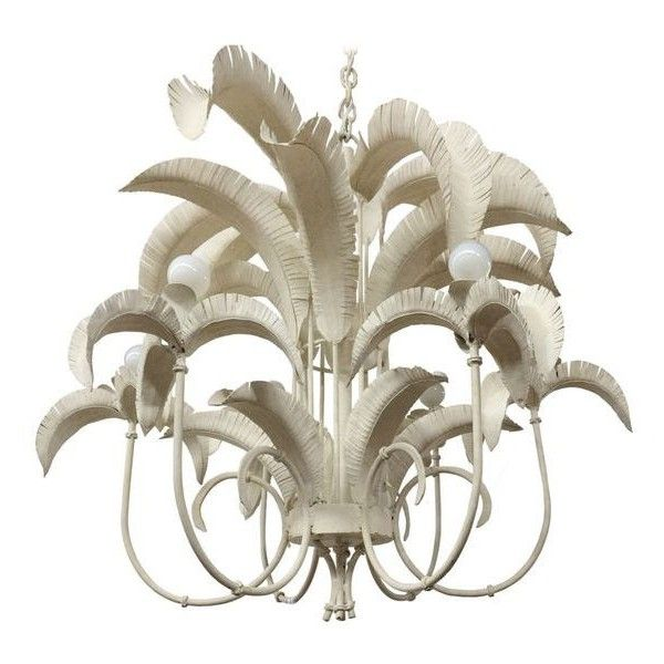 Faux Bamboo Palm Tree Chandelier ❤ liked on Polyvore featuring ...