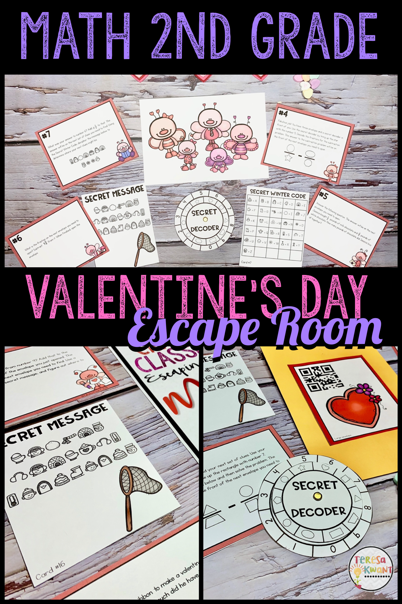 Cracking The Classroom Code Valentine S Day 2nd Grade