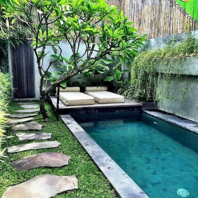 √32 Awesome Natural Small Pools Design Ideas Best For