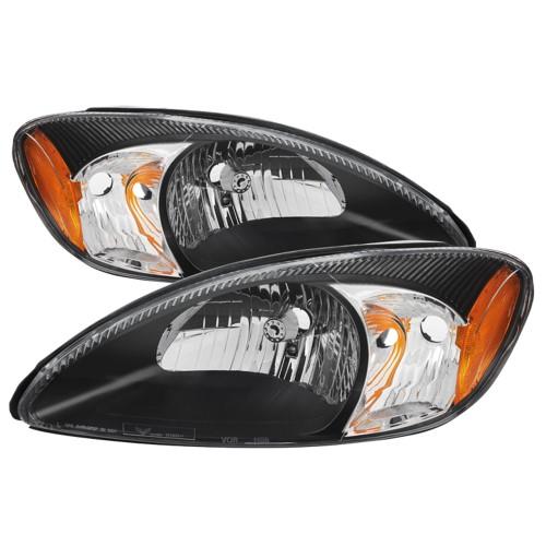 2000 2001 2002 2003 2004 2005 2006 2007 Ford Taurus Black Replacement Headlights Headlamps 00 01 02 03 04 05 06 07 Left Righ Taurus Ford Replacement Headlights