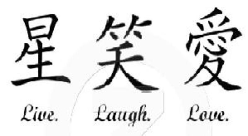 Japanese Symbol For Love Kanji For Live Laugh Love Tattoo
