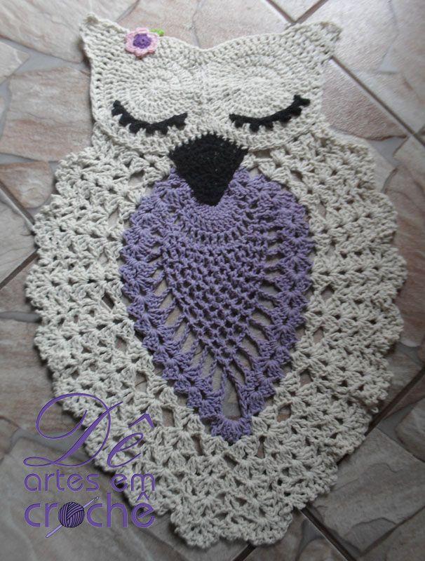 Tapete Coruja Dormindo Em Croch 234 By D 234 Artes Em Croch 234