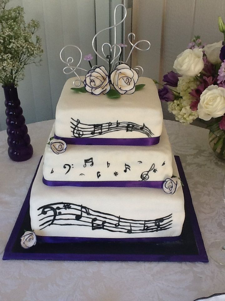 Music Theme Wedding Cake And Other Great Ideas For Your Wedding