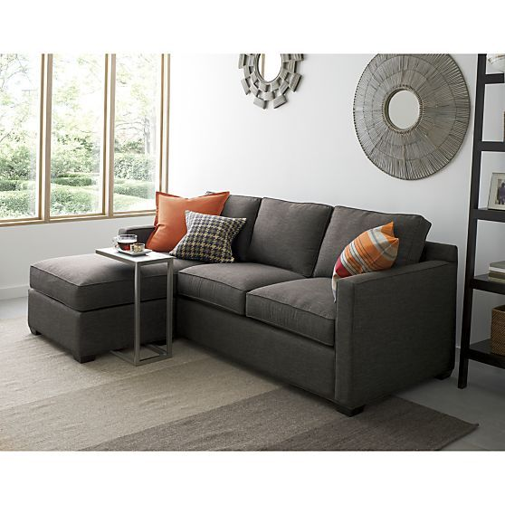 davis 3 seat lounger graphite crate and barrel sofas sofa rh pinterest com