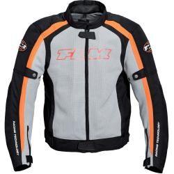 Flm Sports Textil Motorradjacke 1.1 grau Herren Größe 4xl Flm