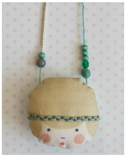 doll face necklace by La Camille