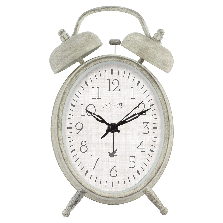 La Crosse Technology Analog Twin Bell Alarm Clock In 2020 Alarm Clock Clock Table Clock