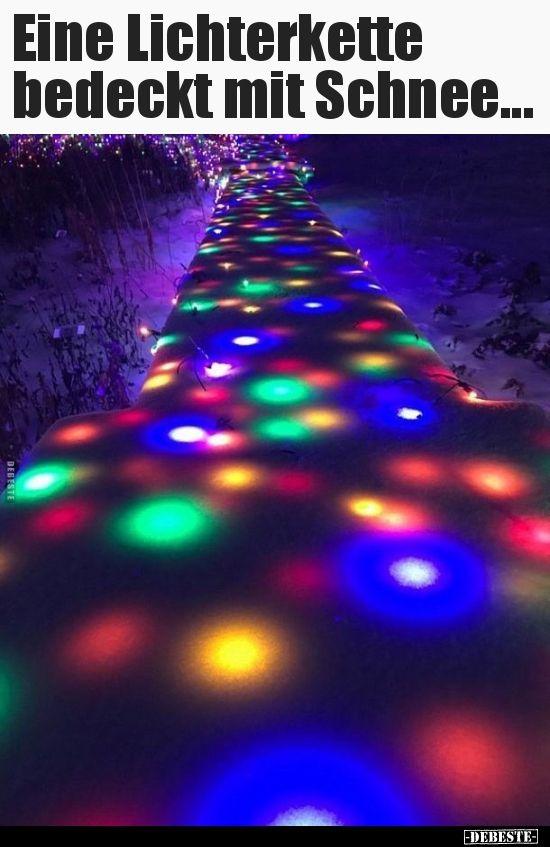 Eine Lichterkette bedeckt mit Schnee… | Lustige Bilder, Sprüche, Witze, echt lustig