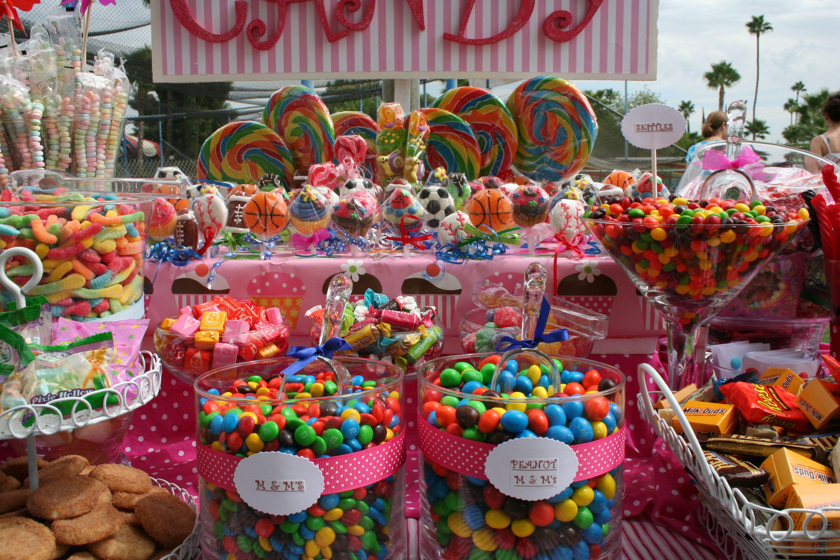 colorful candy buffet employeebbq shariescandybuffets com candy rh pinterest com