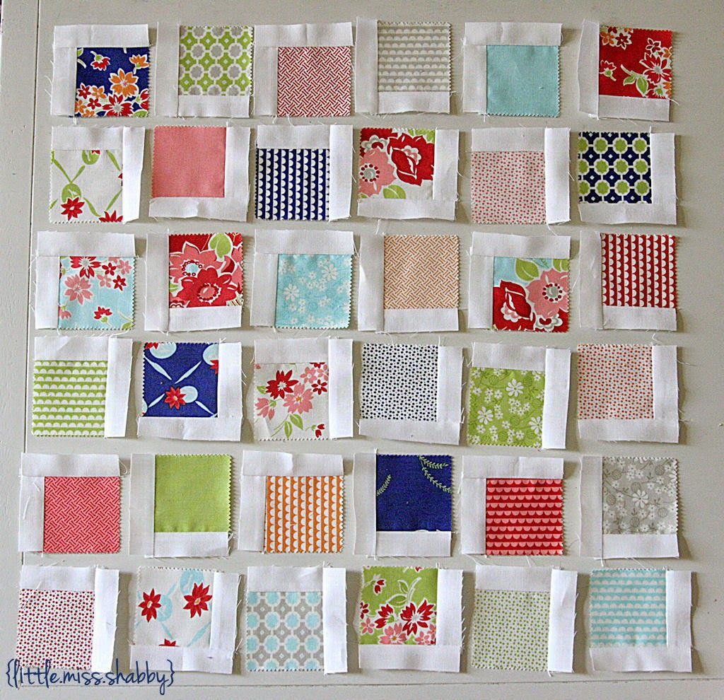 Moda Bake Shop  Scattered Squares Pillow by Corey Yoder of Little Miss  Shabby 03dc65da43