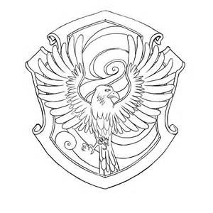Ravenclaw Crest Coloring Page sketch