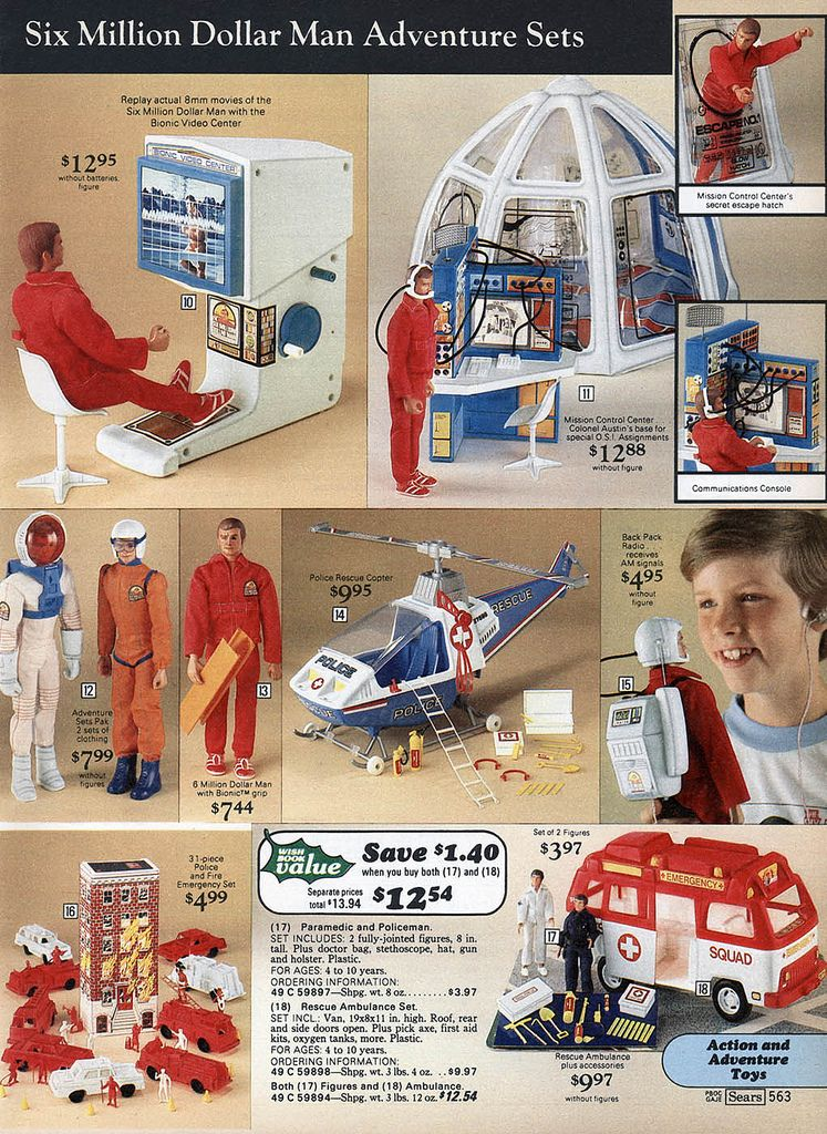 Six Million Dollar Man Action Figure And Accessories From