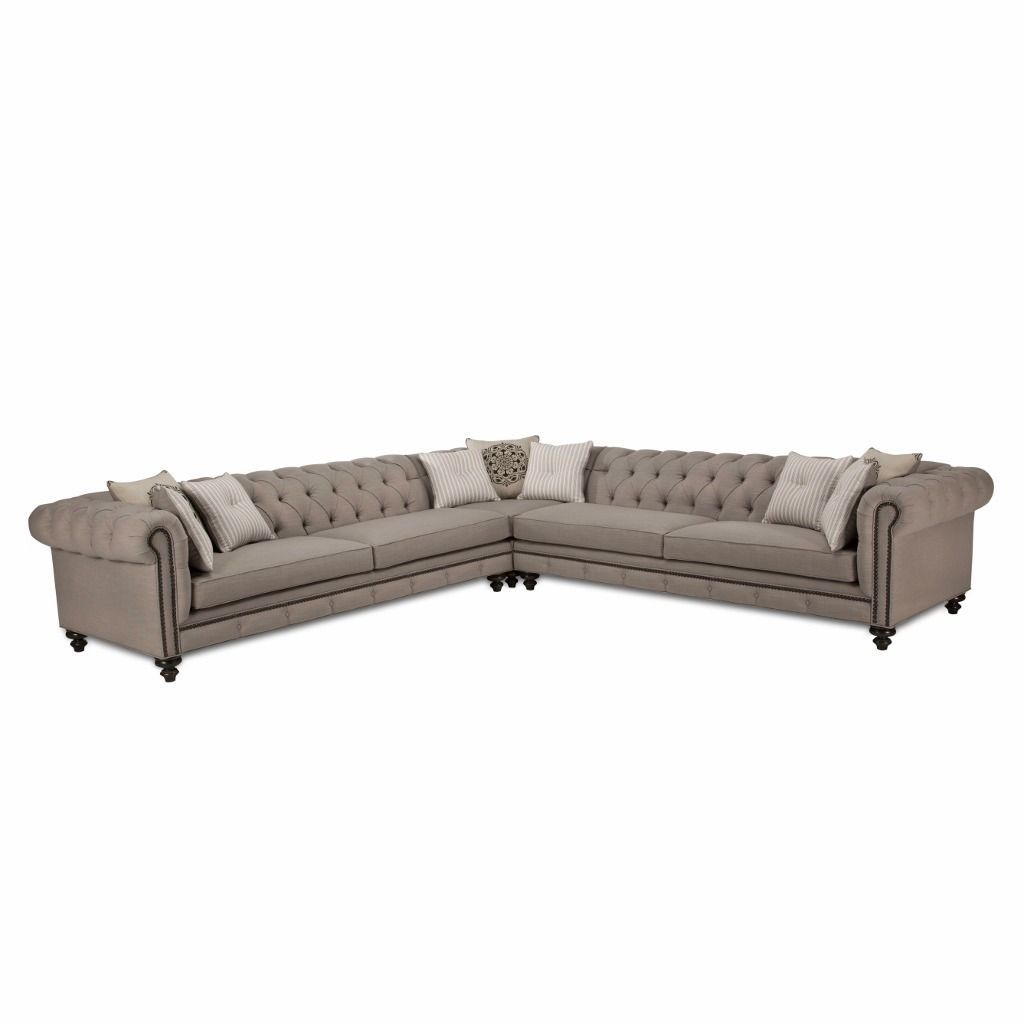 Jar Design Alphonse Grey Tufted Sectional Ping Great Deals On Sofas Loveseats