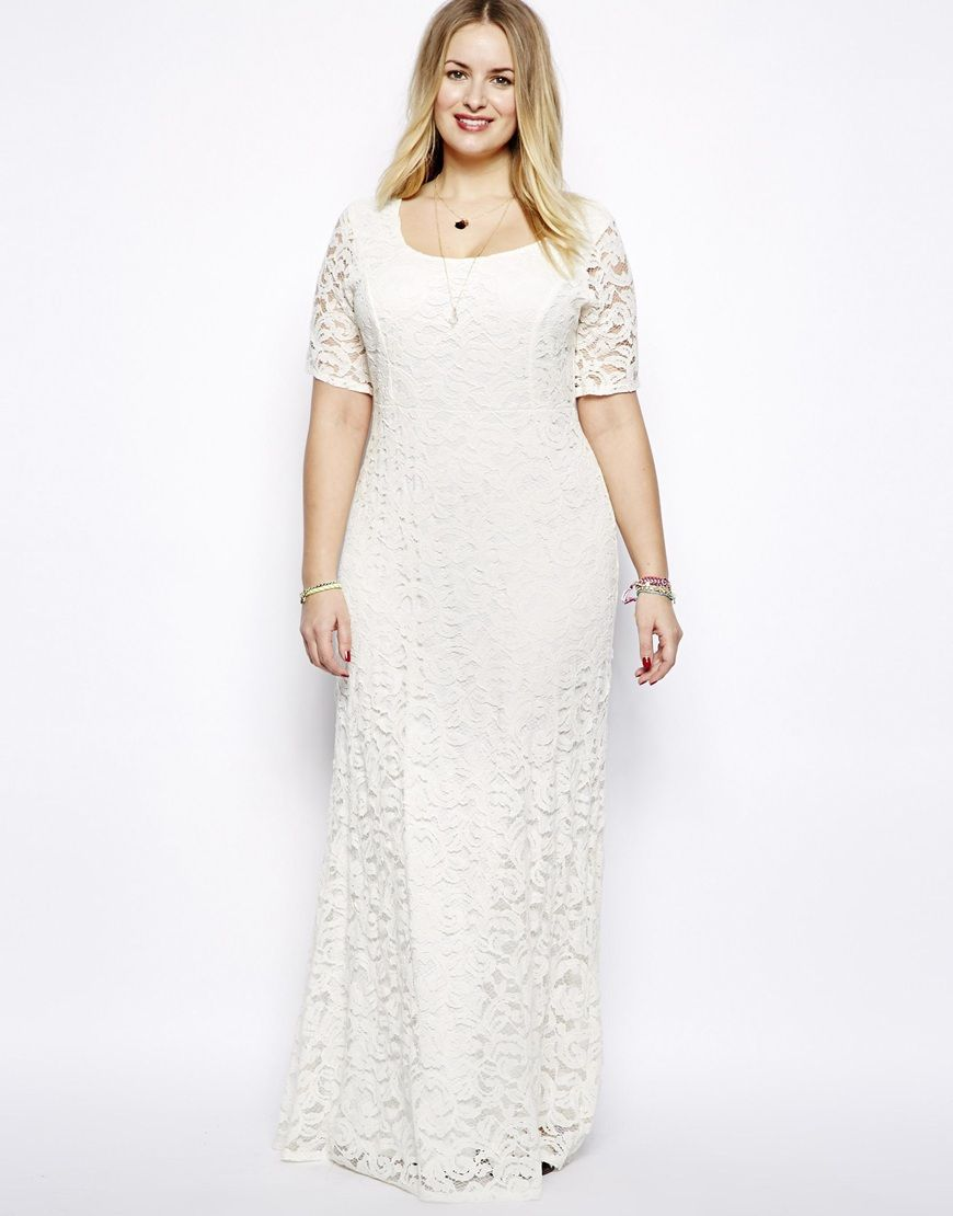 Plus size Sexy White Lace Maxi Dress | Wedding Dress and Accessory ...