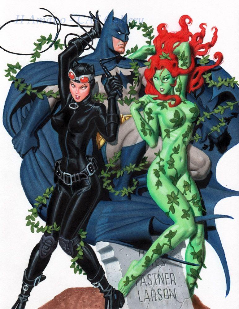 Fastner Amp Larson Poison Ivy W Catwoman Amp Batman In The Batman And Catwoman Catwoman Comic Art
