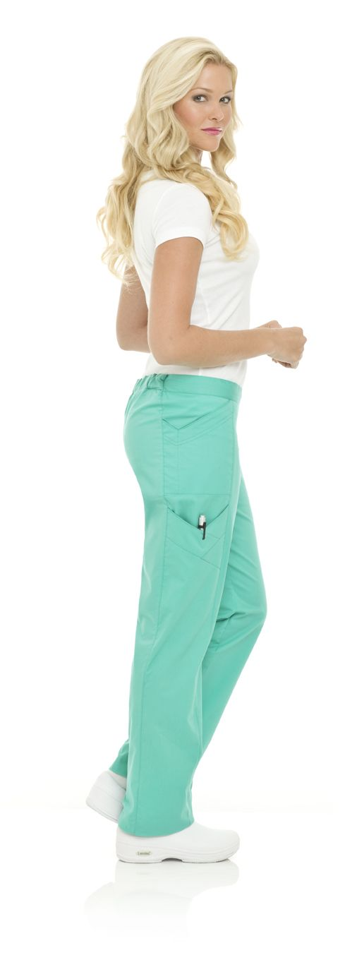 Landau's Smart Stretch 2014 Modern Cargo Pant in Turquoise #landau #uniforms #medical #hospital #scrubs #fashion #school #nurse #rn #nursing #lpn #lvn #cna #vet #tech #dental #hygenist #march #spring #green #steel #turquoise