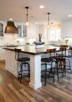 recess under island bench top to accommodate chairs kitchen rh pinterest com