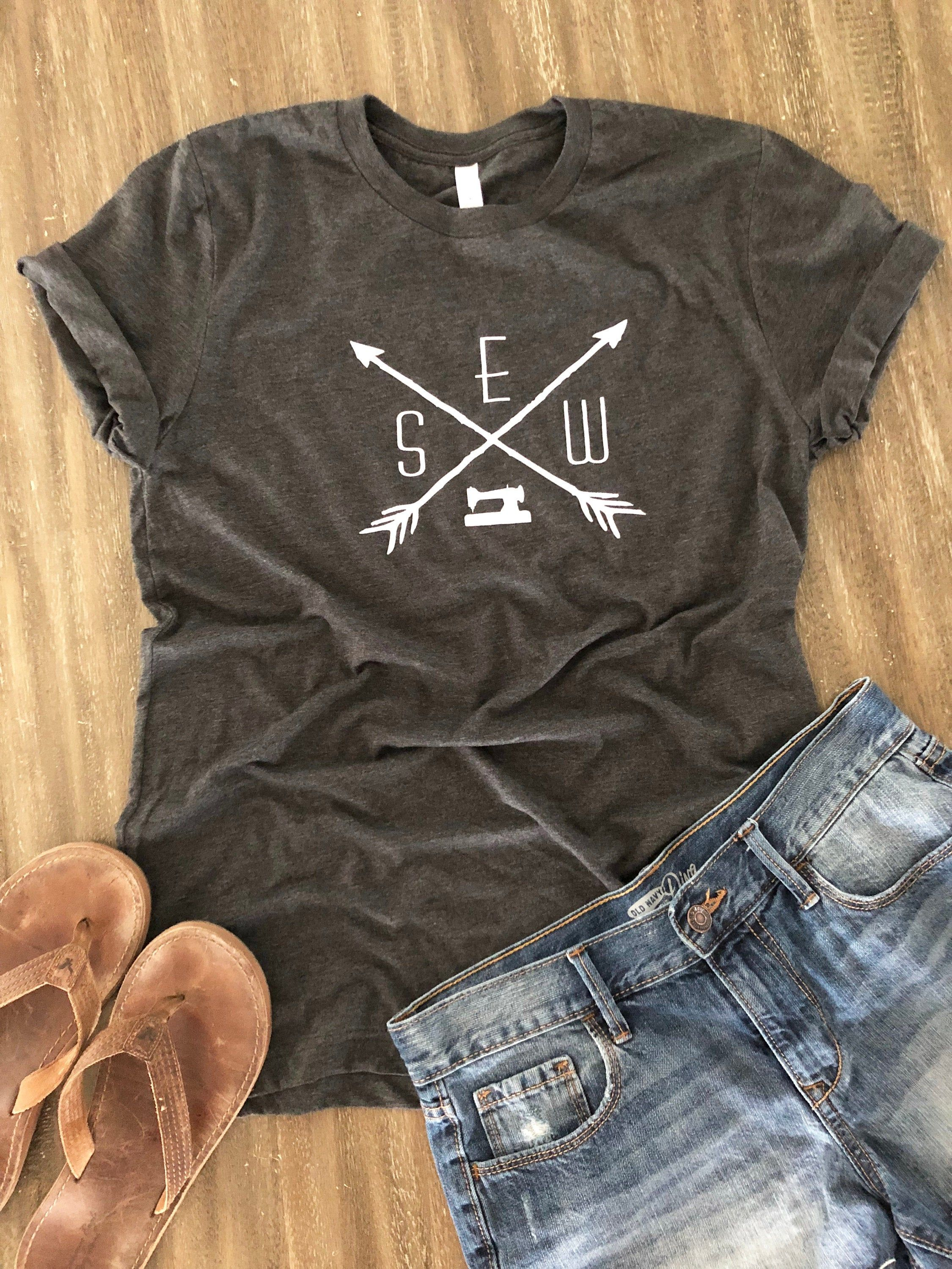 Sewing Tee, Quilting TShirt Custom Designed by Buttermilk