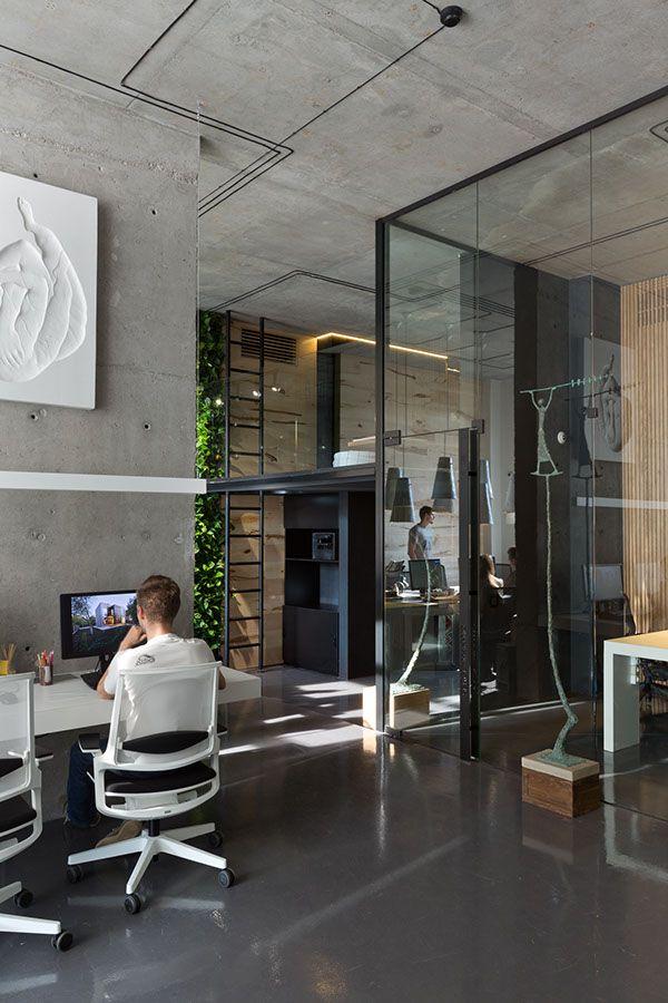 new makhno workshop on behance interior in 2019 loft office rh pinterest com