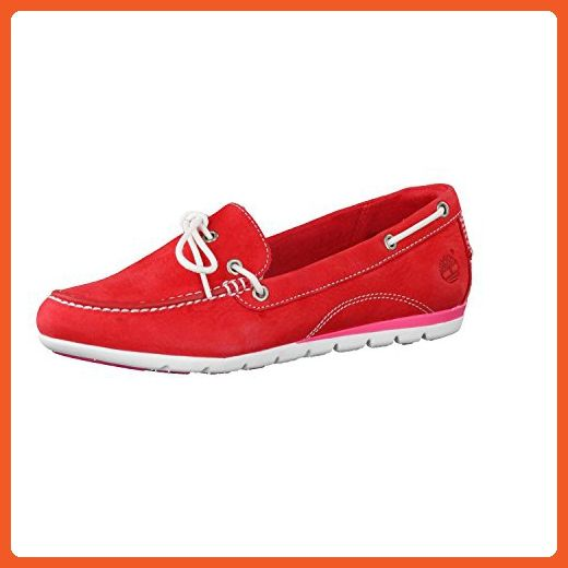 Timberland Women's Ladies Harborside Shoes 8420B Red UK6 Red - Athletic  shoes for women (*
