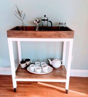 customizable coffee cart dining room storage buffet for the rh pinterest ca