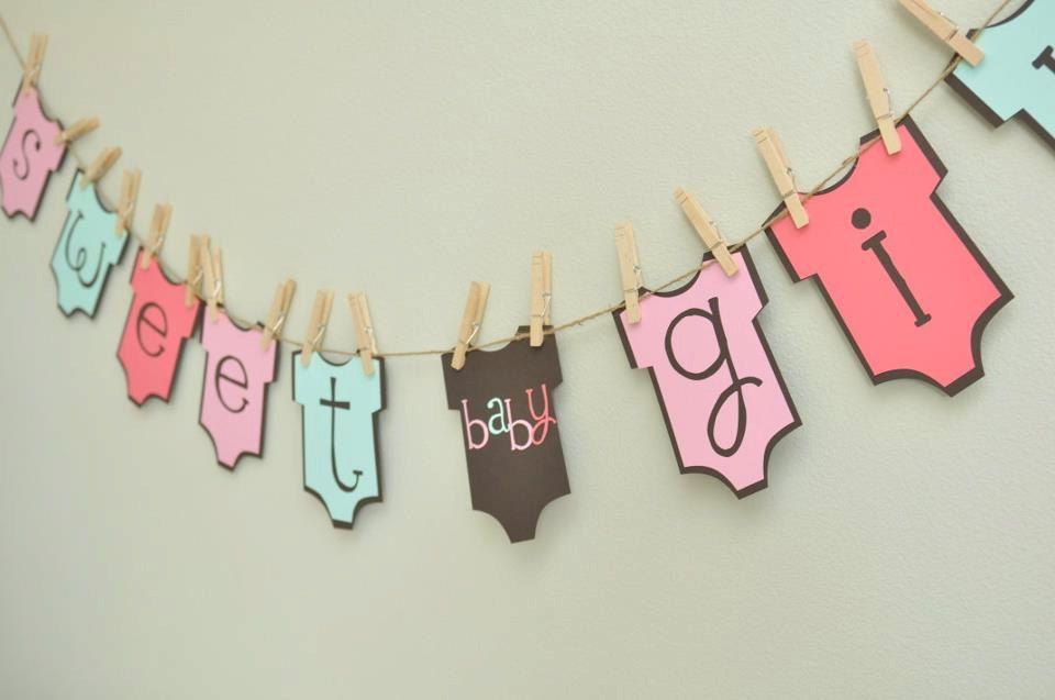 baby girl onesie banner baby shower onesie theme baby girl party rh pinterest com