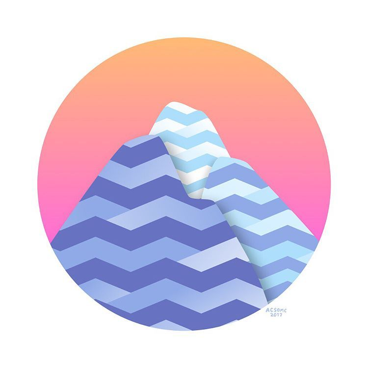 """좋아요 121개, 댓글 8개 - Instagram의 acsom c(@acsomc)님: """"made some mountains for a non-profit, inspired by traditional guatemalan design... and yoshi's story"""""""