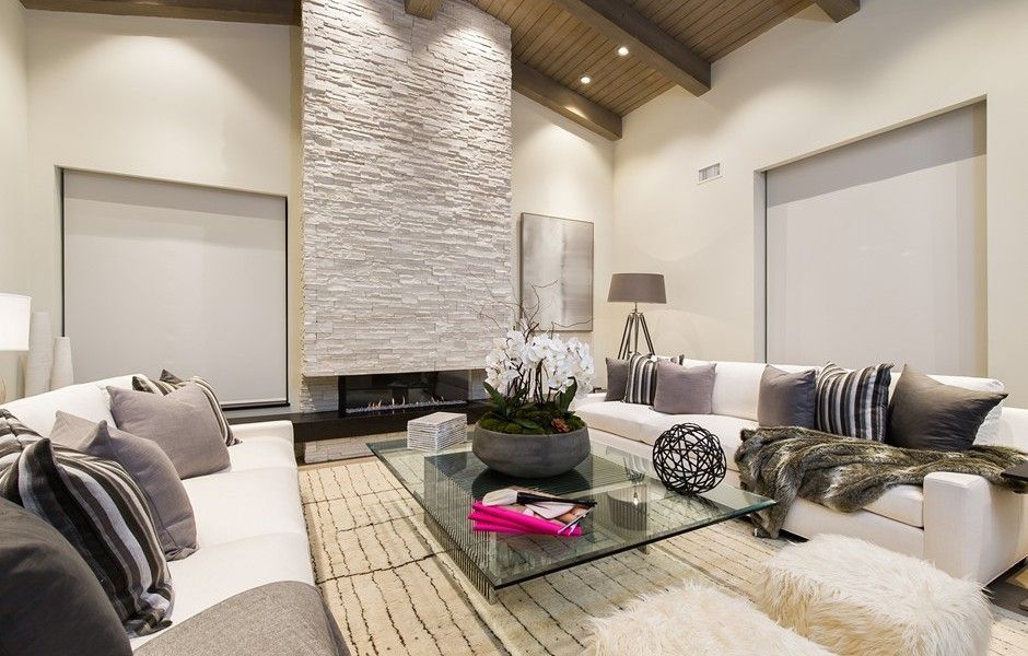 Large windows and high ceilings offer ample
