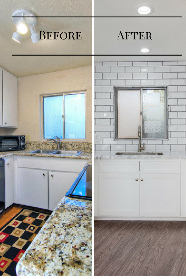 Kitchen Remodel house flip before and after