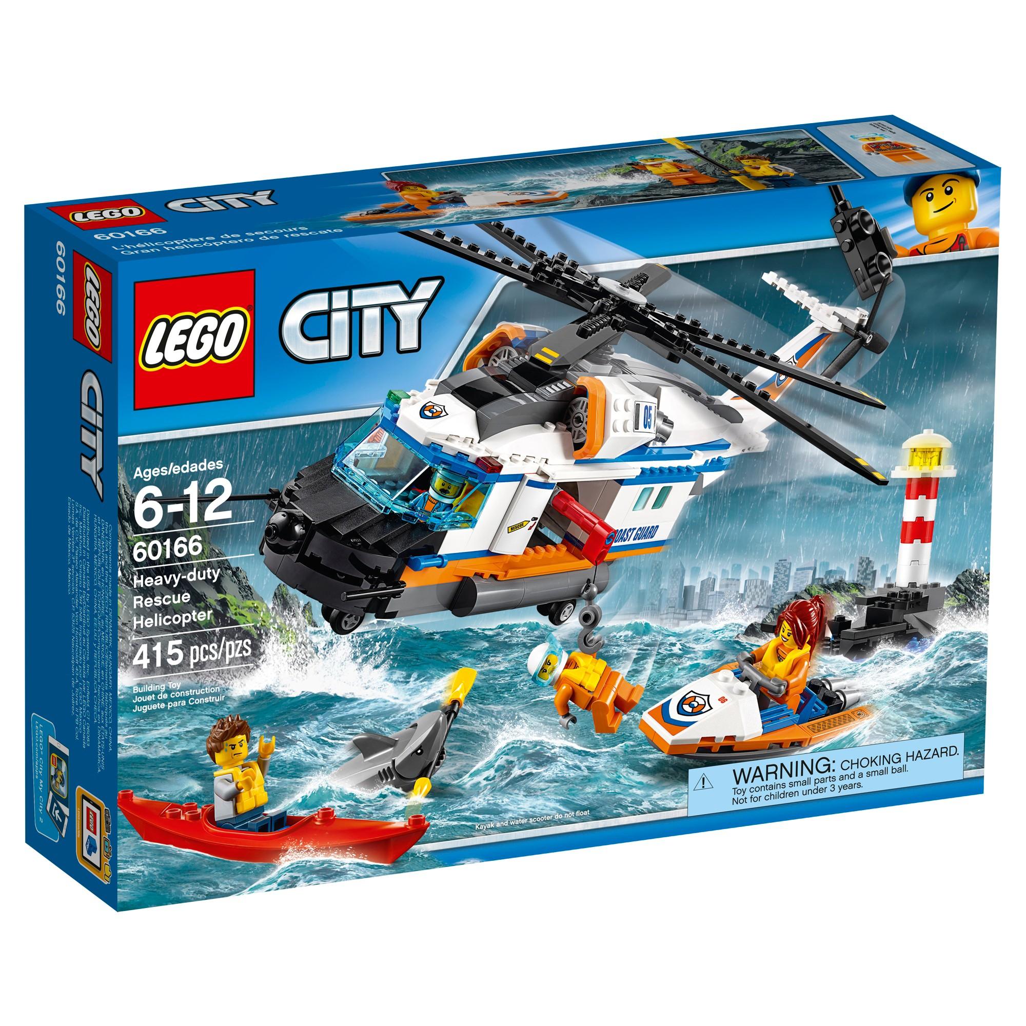 Lego City Coast Guard Heavy Duty Rescue Helicopter 60166 Juguetes Nuevos Comprar Lego Helicopteros