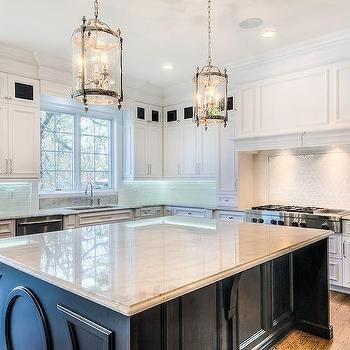 Best Black Kitchen Island With Taj Mahal Quartzite Countertop 400 x 300