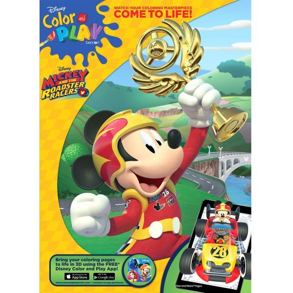 Mickey Mouse And The Roadster Racers Coloring Activity Book In