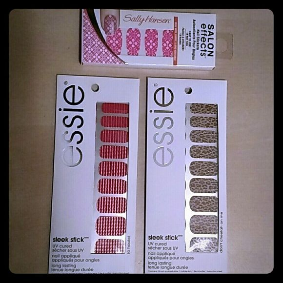 Essie & Sally Hansen Nail Stickers Brand New! Selling in a bundle, 2 ...