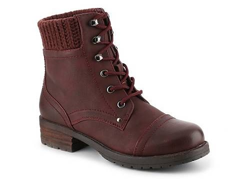 Boots Women Mix No. 6 Posy Combat Boot Burgundy Outlet Online