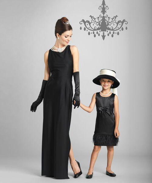breakfast at tiffany\u0027s girls costume - mommy and me Mom Kids - mother daughter halloween costume ideas