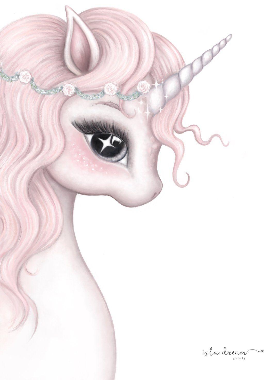 Rosa Unicorn Print Isla Dream Prints Unicorn Wallpaper Cute Unicorn Artwork Unicorn Painting