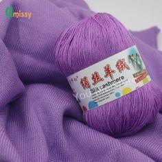 1 шт пряжа для ручного вязания тонкая пряжа камвольно шелк кашемир