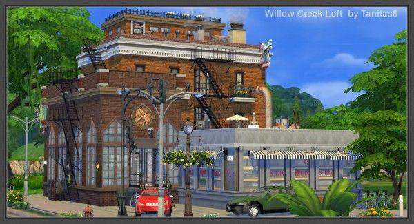 Tanitas sims willow creek loft sims 4 downloads sims for Willow creek mansion