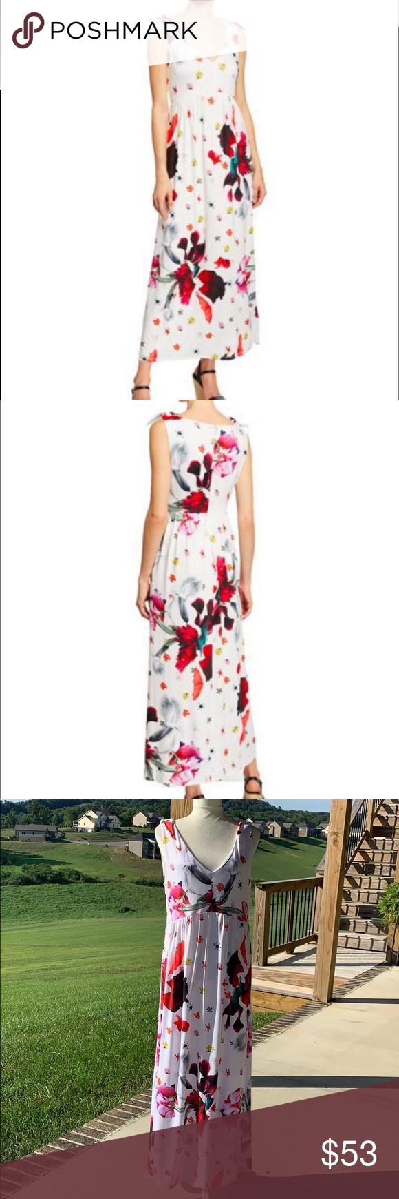 New T Tahari Floral Maxi Dress Floral Maxi Dress Clothes Design Maxi Dress [ 1740 x 580 Pixel ]