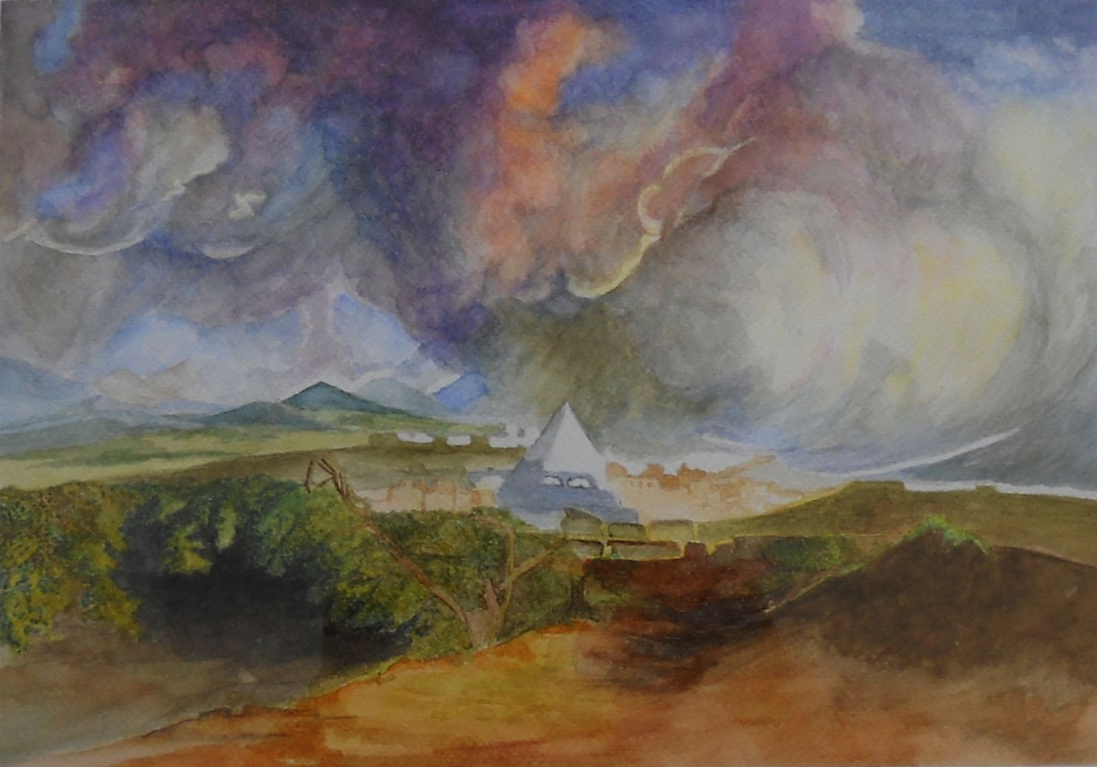 Watercolour 26x36 - Study on W.Turner's light by Ana Lucia Sobral
