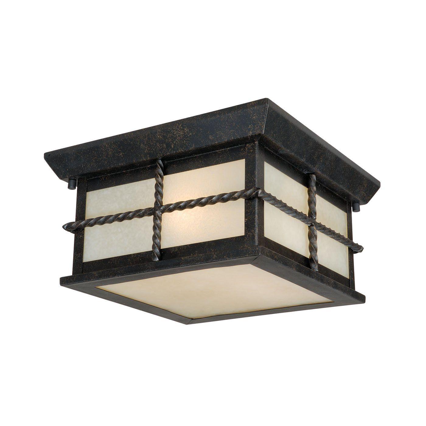 Vaxcel T0029 Savannah Outdoor Flush Mount Ceiling Light